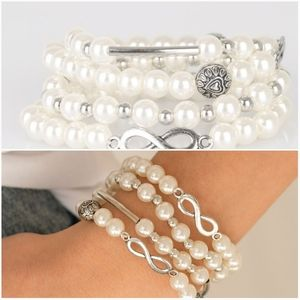 LIMITLESS LUXURY WHITE STRETCHY BRACELET SET